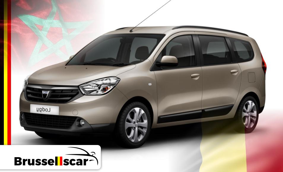 Location de voiture Monospace Dacia LODGY, 7 places pas cher à Agadir et marrakech aéroport chez SaranzCar