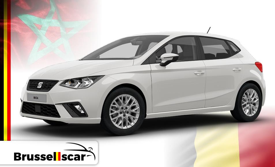 Location de voiture Économique SIAT Ibiza, 5 places pas cher à Agadir et marrakech aéroport chez SaranzCar