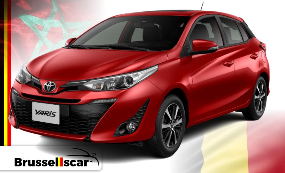 Location de voiture Citadine Hybride Toyota Yaris, 5 places pas cher à Agadir et marrakech aéroport chez SaranzCar