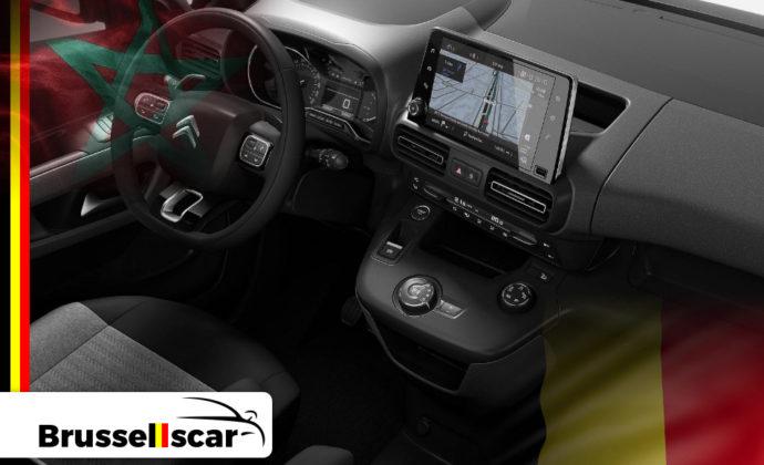 voiture de location à Agadir et Marrakech Monospace Citroën berlingo 5 places pas cher chez Brusselscar